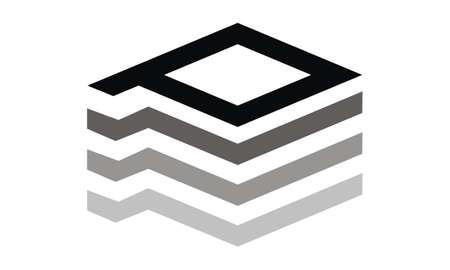 Letter P Layer Modern logo concept design. Ilustracja
