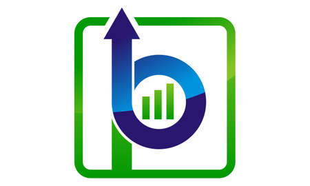 Letter B and P with Up Arrow logo concept design. Illustration