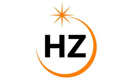 Letter HZ Solution Modern logo concept design.