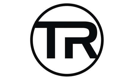Letter TR modern icon on white background, vector illustration. Vektoros illusztráció