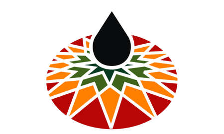 Petroleum development company oil icon on white background, vector illustration.