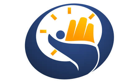 Success Time Management  logo concept design.