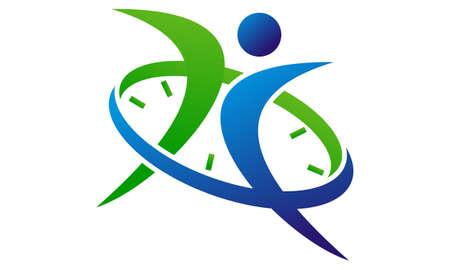 Success Time Management  logo concept design.
