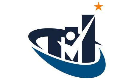 Business success  logo concept design. Illustration