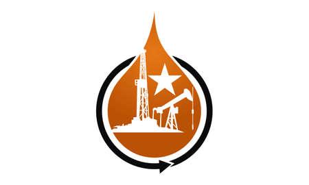 Oil Mining logo concept design. Vettoriali