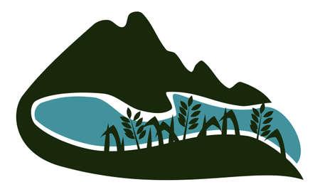 Valley Logo Design Template Vector