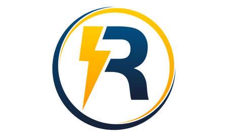 Bolt electricity letter R