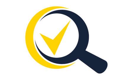 Searching verify Stock Illustratie