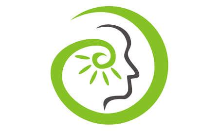 Hearing aid center audiology 矢量图像