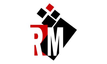 Letter RM media Stock Vector - 90472147