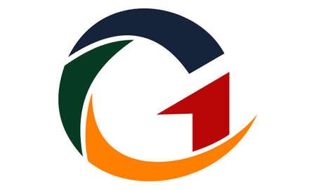 Letter G Modern emblem vector