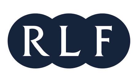Letter RLF Modern Illustration