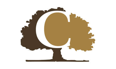 Oak Tree with letter C