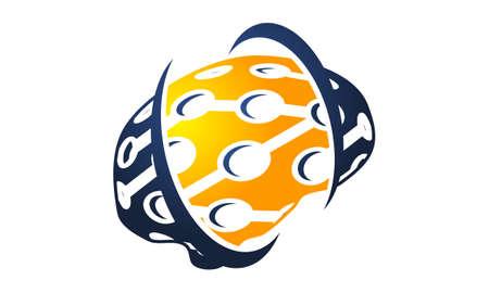 Neuroscience Logo Design Template Vector Illustration