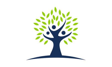 Tree of Life Healing Center logo Vector illustration.