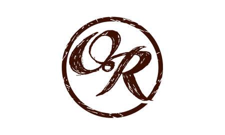 Letter OR Logo Vector illustration.