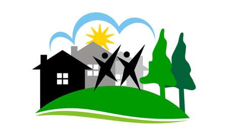 Neighborhood Association Logo Vector illustration.