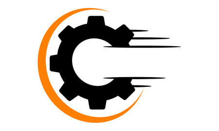 Speed Gear Letter O C Logo Vector illustration. Ilustração