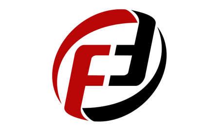 Letter PF FD FF Modern Logo Vector illustration.