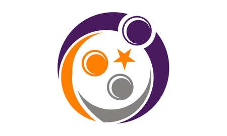 Mother and Children Care Logo Vector illustration. Illustration