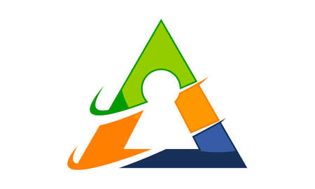 Triangle Security Logo Vector illustration. 向量圖像