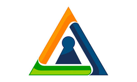 Triangle Security Logo Vector illustration. Illustration