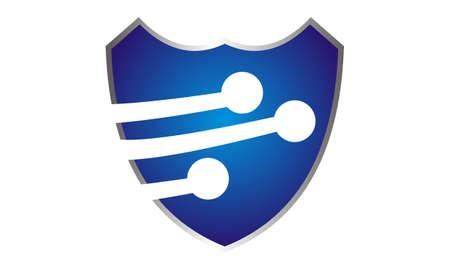 Technology Security Logo Vector illustration.