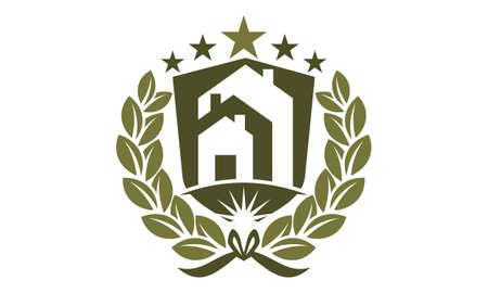 Real Estate Success Logo Vector illustration. Illustration