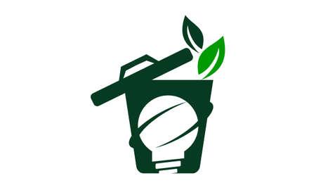 Waste Bag Solution Logo Vector illustration. Vectores