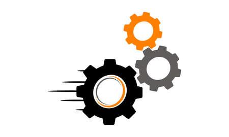 Speed Gear Letter O C Logo Vector illustration.