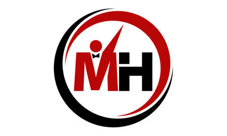Letter MH Business Success Logo Vector illustration.  イラスト・ベクター素材