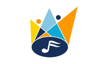 Musical Show Logo Vector illustration.