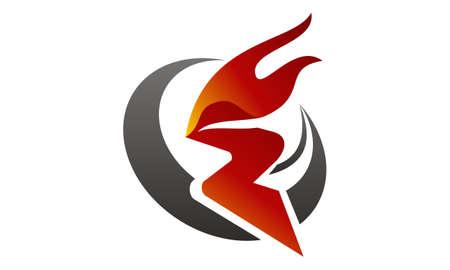 Fire Rapid Logo Vector illustration.