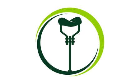 walking stick Supplier Logo Vector illustration.