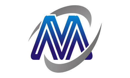 Letter M Synergy Logo Vector illustration.