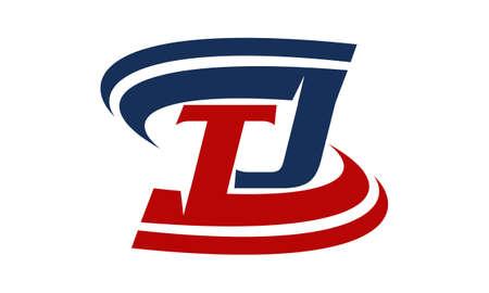 Letter T J illustration good for logo.