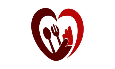 Serve With Love illustration good for logo. Vectores
