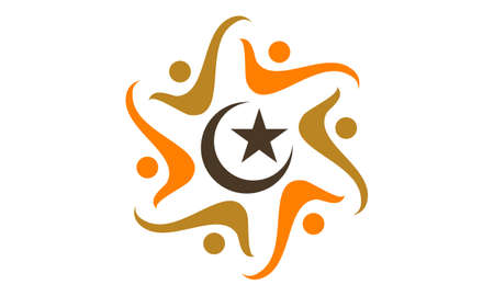 Muslim Community Success illustration good for logo.