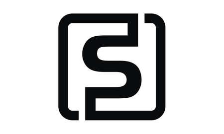 Letter F S Modern illustration good for logo.