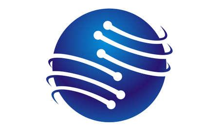 IT Technology Transfer illustration good for logo.