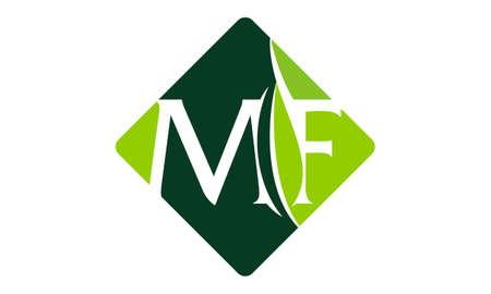 Letter MF Leaf illustration good for logo.