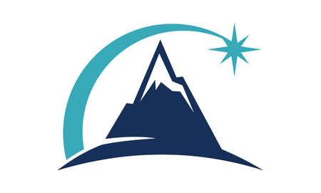 Mountain Star Energy Power Illustration