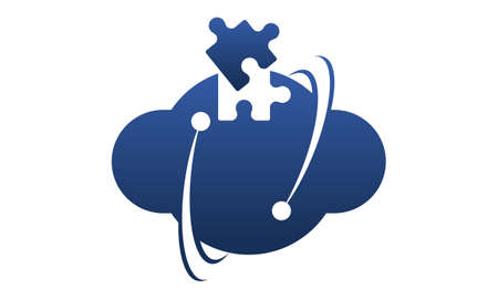 Technology Cloud Template illustration good for logo.
