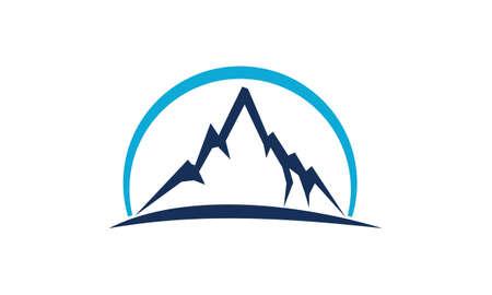 Mountain Star Energy Power illustration good for logo. Illustration