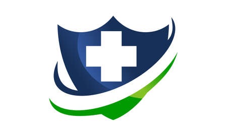 Ilustración de Health Shield bueno para el logotipo.