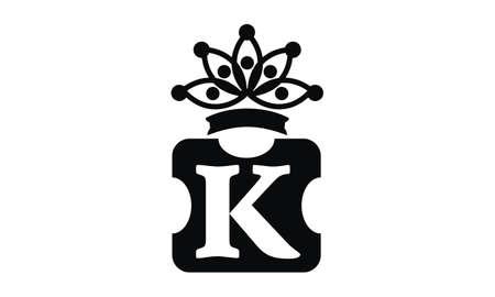 Letter K Crown illustration good for logo.  イラスト・ベクター素材
