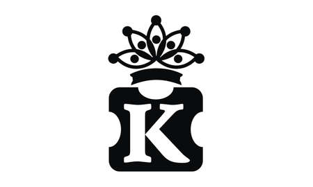 Letter K Crown illustration good for logo. Ilustrace