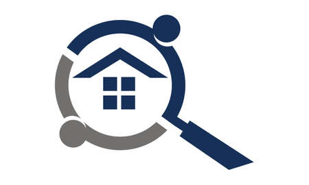 Home Searching Template illustration good for logo on a plain background. Çizim