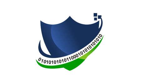 Programming Shield Template illustration good for logo.