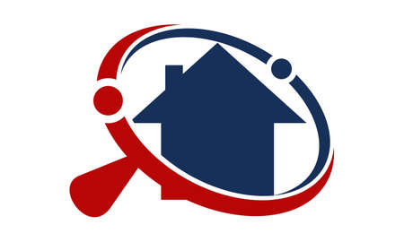 Home Searching Agent  illustration good for logo.